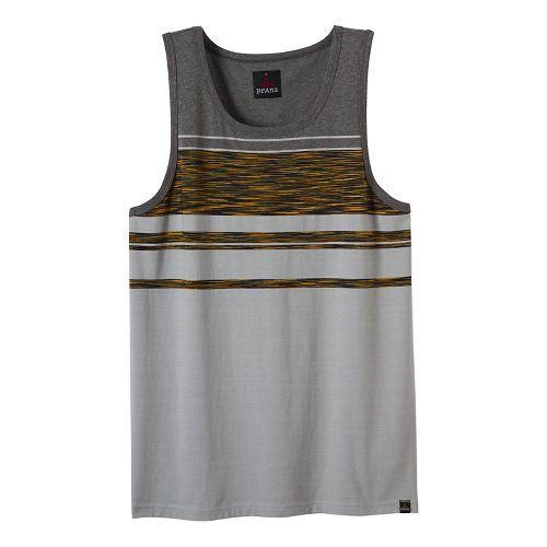 Mens prAna Throttle Tank Sleeveless & Tank Tops Technical Tops - Grey L