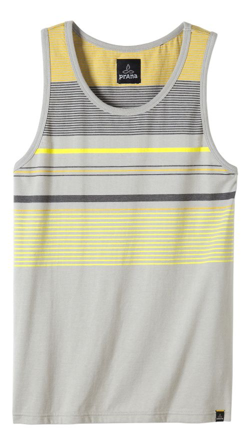 Mens prAna Throttle Tank Sleeveless & Tank Tops Technical Tops - Greystone XL