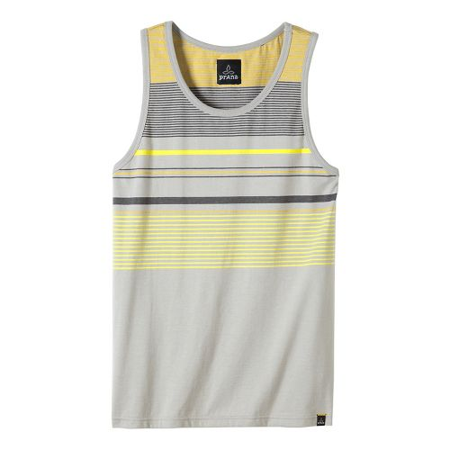 Mens prAna Throttle Tank Sleeveless & Tank Tops Technical Tops - Greystone XXL