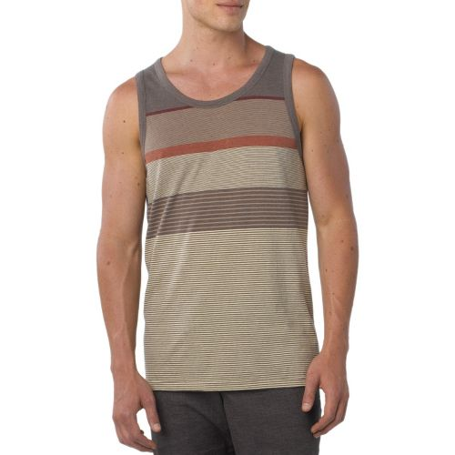 Mens Prana Throttle Tanks Technical Tops - Buttermilk L