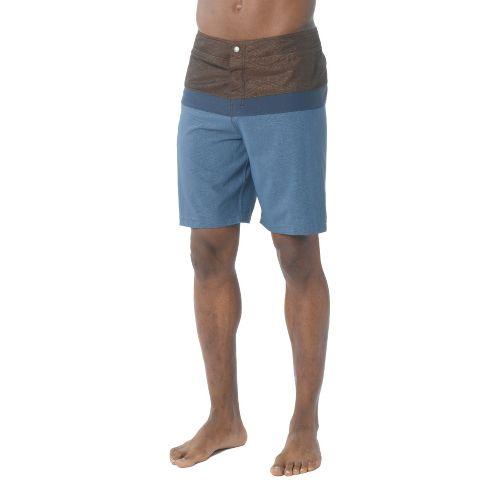 Mens Prana Montericco Unlined Shorts - Dusk Blue 36