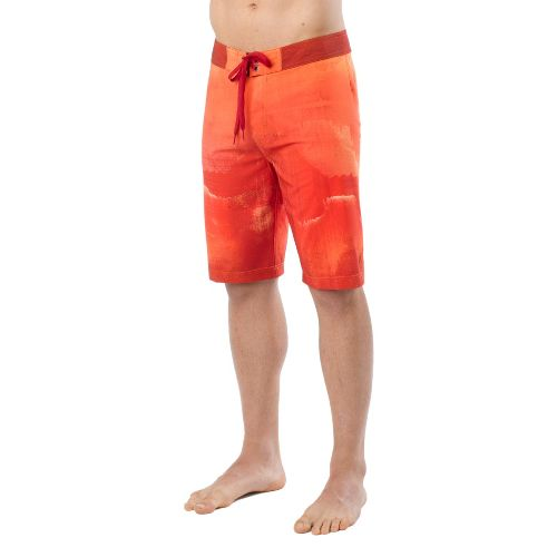 Mens Prana Mountain Unlined Shorts - Red 33