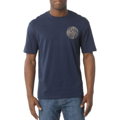 Mens Prana Good Stuff Short Sleeve Non-Technical Tops - Navy S