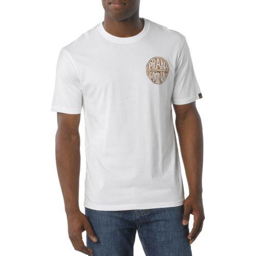 Mens Prana Good Stuff Short Sleeve Non-Technical Tops - White XXL