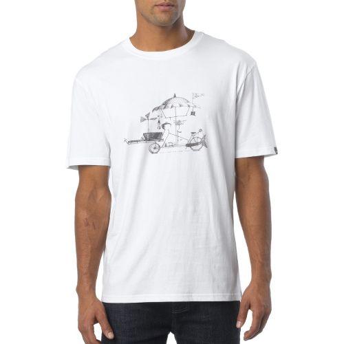 Mens Prana Conscious Cruiser Short Sleeve Non-Technical Tops - White XL