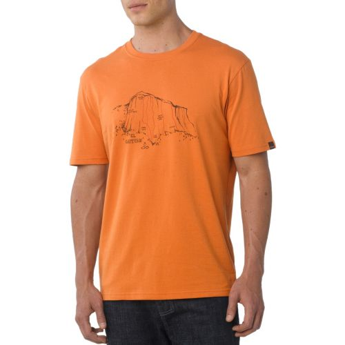 Mens Prana El Capitan Short Sleeve Non-Technical Tops - Pumpkin S