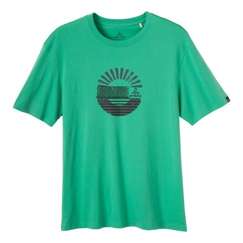 Mens Prana Sunrise Short Sleeve Non-Technical Tops - Cloverfield XXL