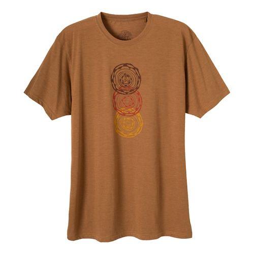 Mens Prana Linked Short Sleeve Technical Tops - Dark Ginger XL