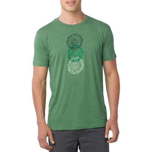 Mens Prana Linked Short Sleeve Technical Tops - Jade L