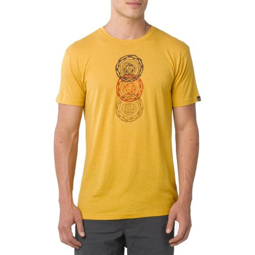 Mens Prana Linked Short Sleeve Technical Tops - Toffee M