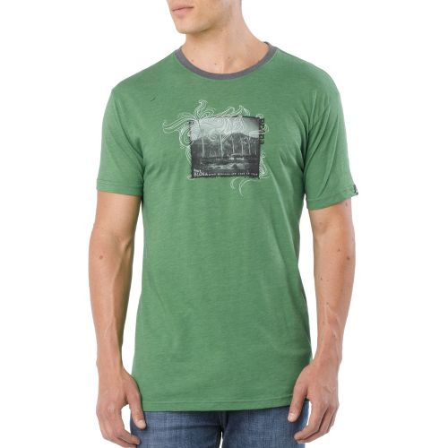 Mens Prana Windfarm Short Sleeve Technical Tops - Jade L