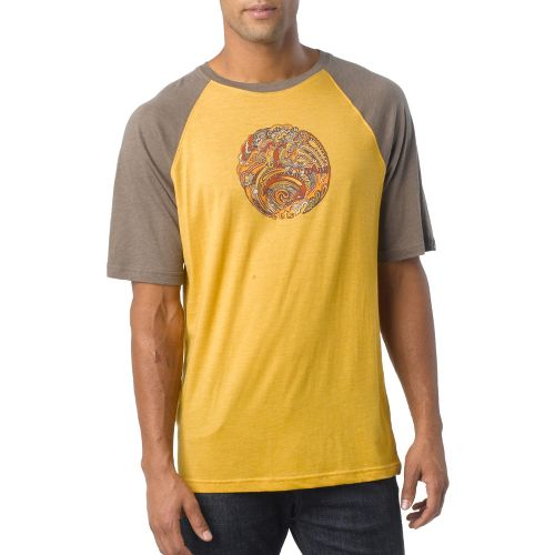 Mens Prana Barrel Short Sleeve Technical Tops - Toffee L