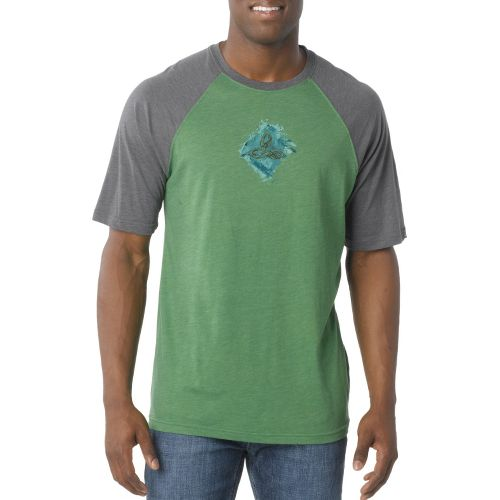Mens Prana Chalk Short Sleeve Technical Tops - Jade L
