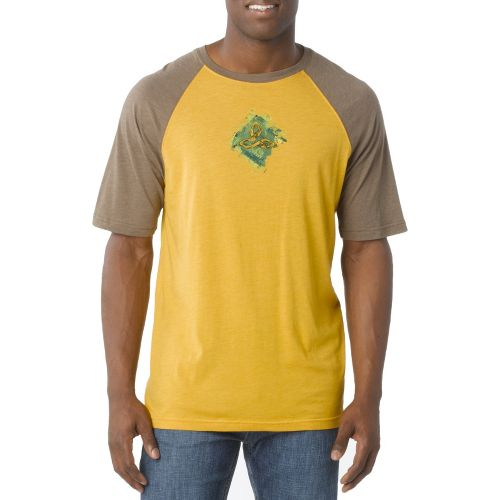 Mens Prana Chalk Short Sleeve Technical Tops - Toffee S