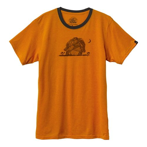 Mens Prana Joshua Tree Short Sleeve Technical Tops - Tangerine XXL
