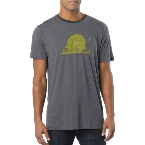 Mens Prana Joshua Tree Short Sleeve Technical Tops - Charcoal M