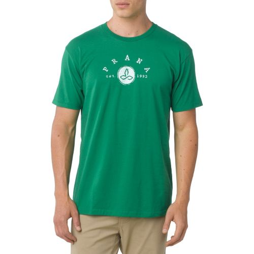 Mens Prana Classic Short Sleeve Non-Technical Tops - Kelly Green S