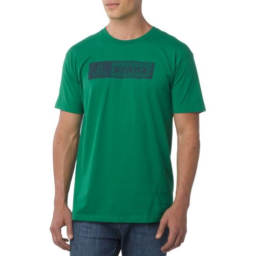 Mens Prana Stamp Short Sleeve Non-Technical Tops - Kelly Green L