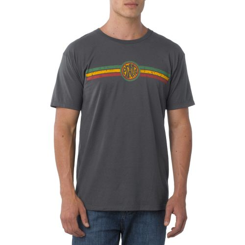 Mens Prana Rasta Short Sleeve Non-Technical Tops - Charcoal XXL