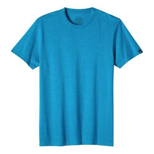 Mens prAna Crew Short Sleeve Non-Technical Tops - Blue XL