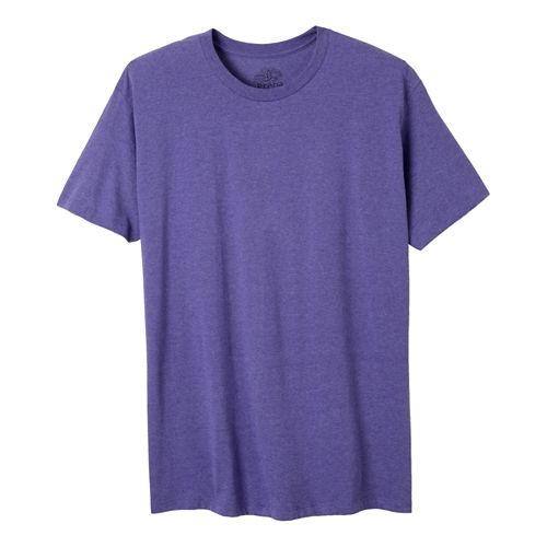 Mens Prana prAna Crew Short Sleeve Non-Technical Tops - Purple Heather L
