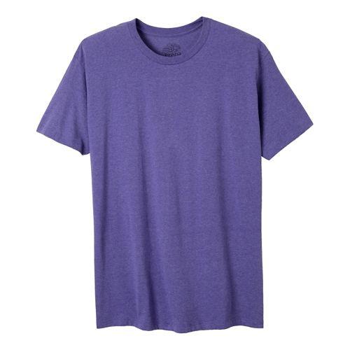 Mens Prana prAna Crew Short Sleeve Non-Technical Tops - Purple Heather XXL