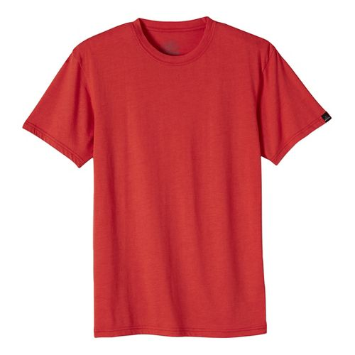 Mens prAna Crew Short Sleeve Non-Technical Tops - Orange XL