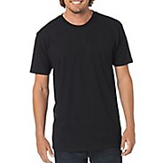 Mens prAna Crew Short Sleeve Non-Technical Tops - Black M