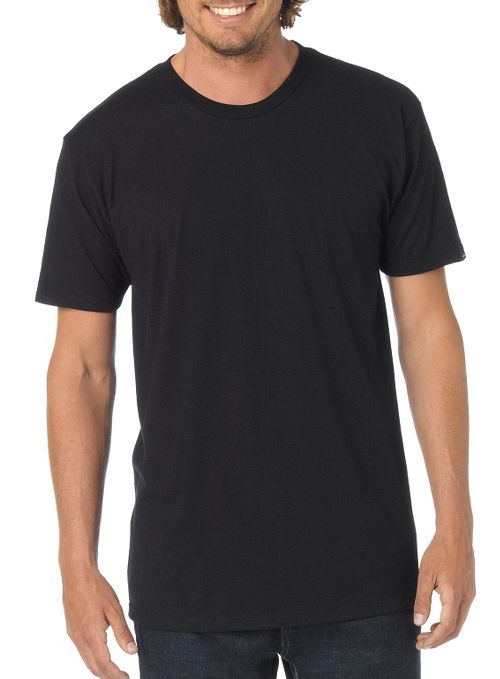 Mens prAna Crew Short Sleeve Non-Technical Tops - Black L
