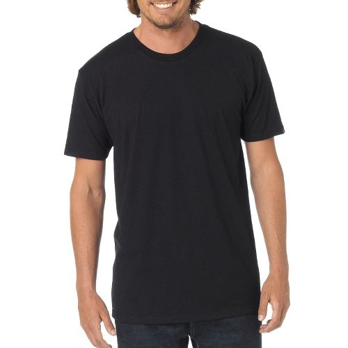 Mens Prana prAna Crew Short Sleeve Non-Technical Tops - Black XXL