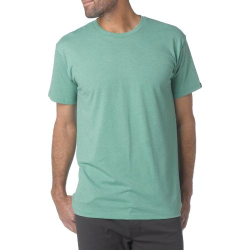 Mens Prana Crew Short Sleeve Non-Technical Tops - Kelly Green S