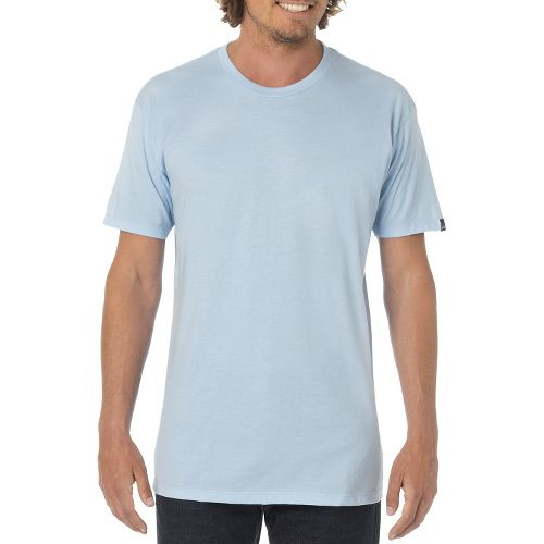 Mens Prana Crew Short Sleeve Non-Technical Tops - Powder Blue XXL