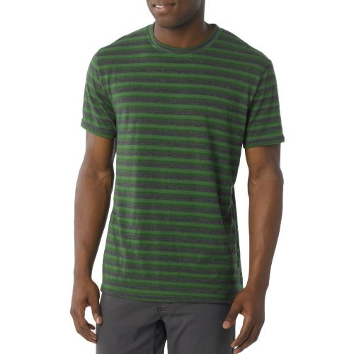 Mens Prana Mateo Crew Short Sleeve Technical Tops - Deep Jade XXL