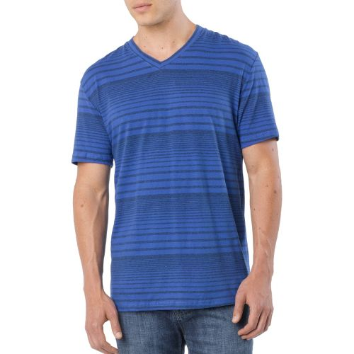 Mens Prana Vasquez V-Neck Short Sleeve Technical Tops - Sapphire M