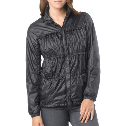Womens Prana Tegan Warm-Up Hooded Jackets - Black XL