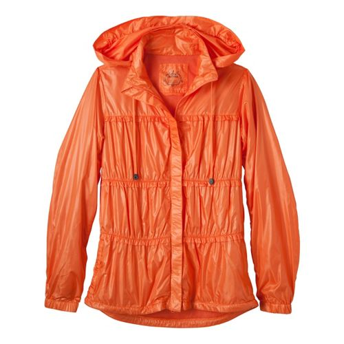 Womens Prana Tegan Warm-Up Hooded Jackets - Melon M