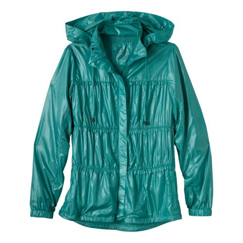 Womens Prana Tegan Warm-Up Hooded Jackets - Turquoise S