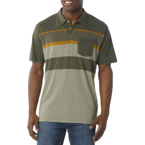 Mens Prana Marco Polo Short Sleeve Technical Tops - Moss L