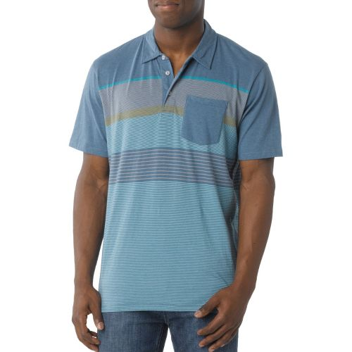 Mens Prana Marco Polo Short Sleeve Technical Tops - Danube Blue L