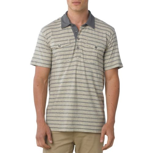 Mens Prana De Silva Polo Short Sleeve Non-Technical Tops - Buttermilk S