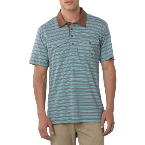 Mens Prana De Silva Polo Short Sleeve Non-Technical Tops - Pinecone XL