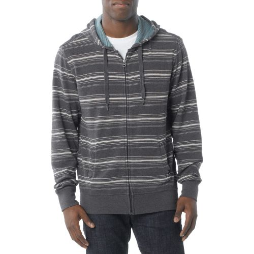 Mens Prana Diego Reversible Warm-Up Hooded Jackets - Coal M