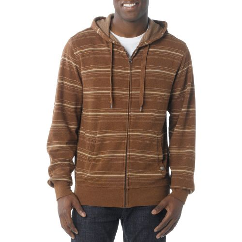 Mens Prana Diego Reversible Warm-Up Hooded Jackets - Pinecone XL