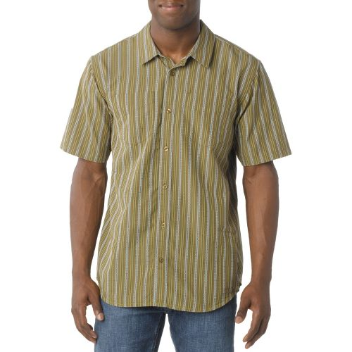 Mens Prana Curtis Short Sleeve Technical Tops - Moss M