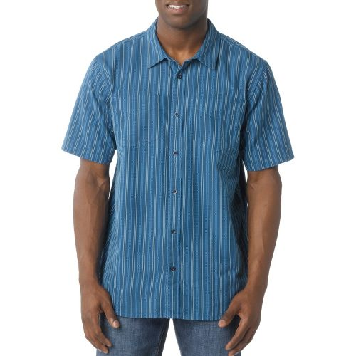 Mens Prana Curtis Short Sleeve Technical Tops - Sapphire M