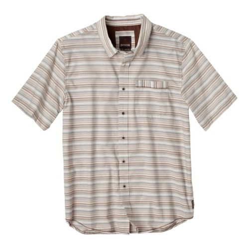 Mens Prana Reflect Short Sleeve Technical Tops - Khaki L