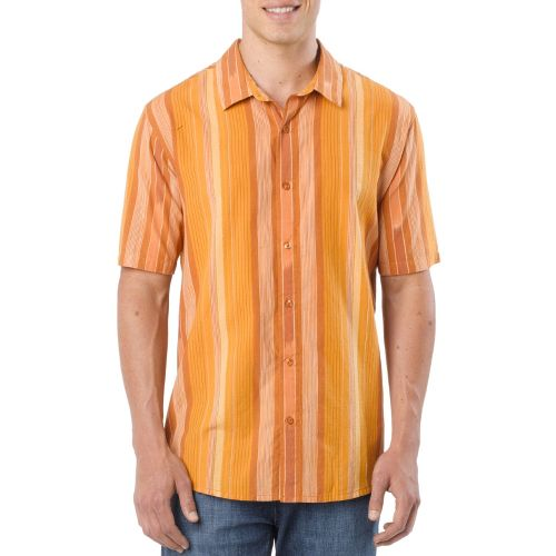 Mens Prana Zapata Short Sleeve Non-Technical Tops - Picante XL