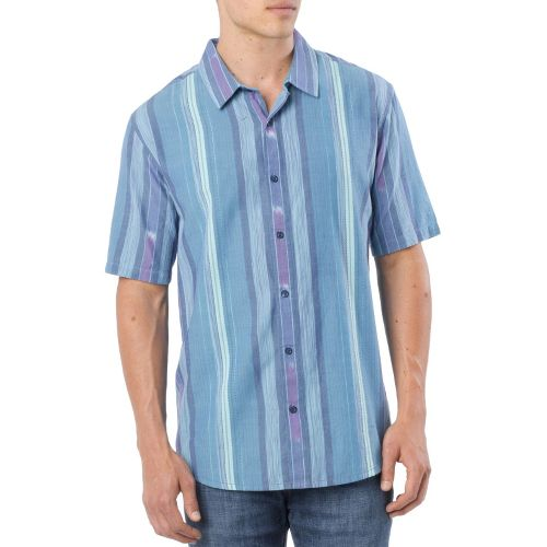 Mens Prana Zapata Short Sleeve Non-Technical Tops - Sapphire S