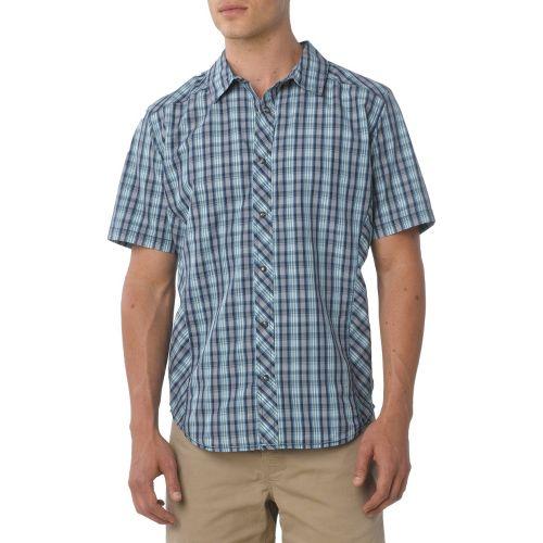 Mens Prana Bryant Short Sleeve Non-Technical Tops - Dusk Blue M