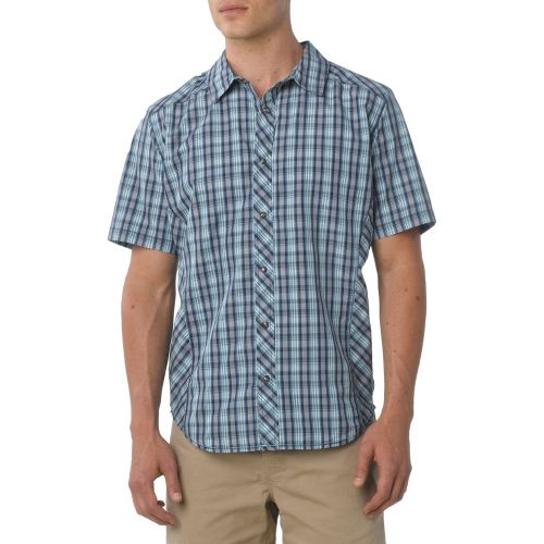 Mens Prana Bryant Short Sleeve Non-Technical Tops - Dusk Blue XS